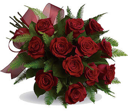 1 Dozen Hand Tied Roses in Prince George BC, Prince George Florists Ltd.