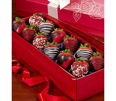 Happy Valentine's Day Strawberry Rose Box in Homer NY, Arnold's Florist & Greenhouses & Gifts