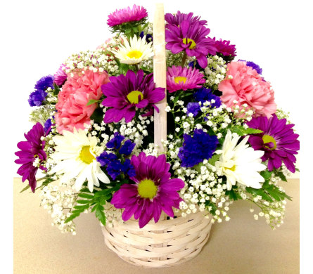 Pretty & Petite Flower 6 inch Basket-Round Design in Wyoming MI, Wyoming Stuyvesant Floral
