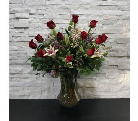 Presidential Rose Arrangement in Ft. Collins CO, Palmer Flowers