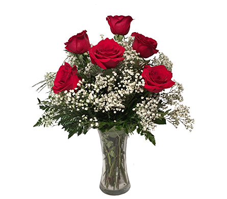 George's 1/2 Dozen Red Roses Arranged in Madison WI, George's Flowers, Inc.