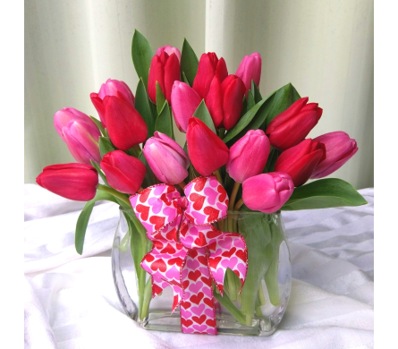 Modern Tulips With Love in Kennett Square PA, Barber's Florist Of Kennett Square