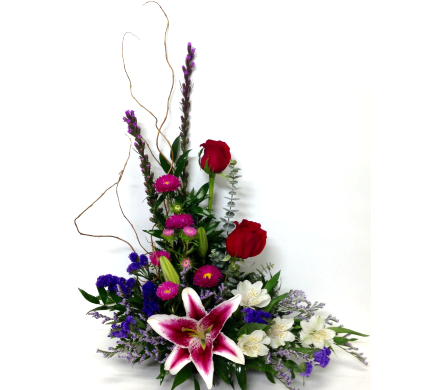 Styled Arrangement with Stargazer Lily in Wyoming MI, Wyoming Stuyvesant Floral