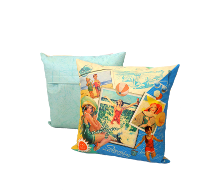 Miles Of Beach Muskegon Indoor/Ourdoor Pillow in Muskegon MI, Wasserman's Flower Shop