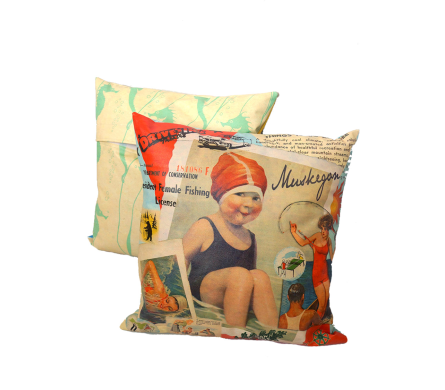 Lake Time Muskegon Indoor/Ourdoor Pillow in Muskegon MI, Wasserman's Flower Shop