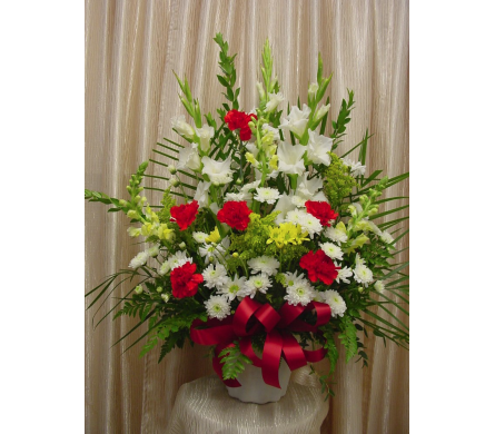 Custom Funeral Basket in Orange CA, Main Street Florist