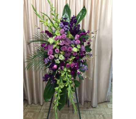 Custom Purple Spray in Orange CA, Main Street Florist