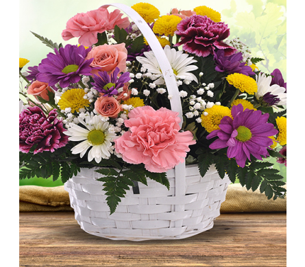 Sunshine Spring Basket in Indianapolis IN, George Thomas Florist