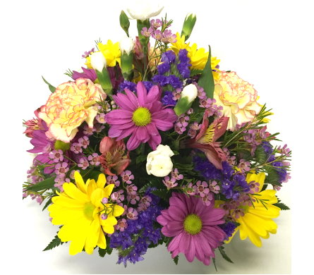 Color Sentiment Centerpiece - Designed All-Around in Wyoming MI, Wyoming Stuyvesant Floral