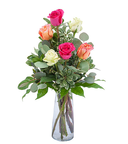 Six Roses in Pleasanton CA, Bloomies On Main LLC
