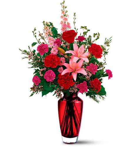 Teleflora's Big Red Bouquet in Bakersfield CA, White Oaks Florist