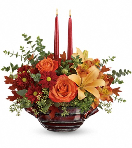 Teleflora's Autumn Gathering Centerpiece in Bakersfield CA, White Oaks Florist