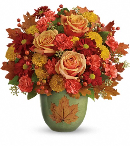 Teleflora's Heart Of Fall Bouquet in Wolfeboro Falls NH, Linda's Flowers & Plants