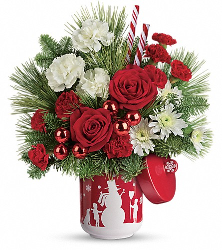 Teleflora's Snow Day Bouquet in Bradford ON, Linda's Floral Designs