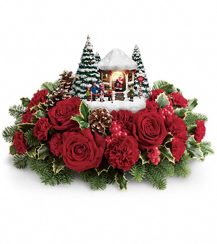 Thomas Kinkade's Visiting Santa Bouquet in Kelowna BC, Creations By Mom & Me