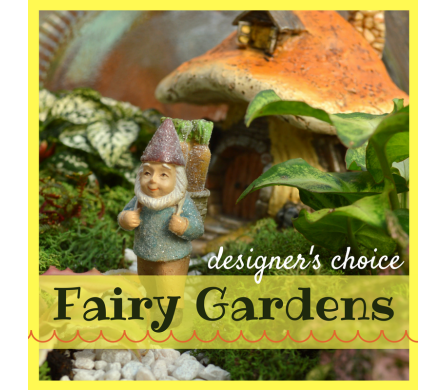 Designer's Choice Fairy Garden in Utica NY, Chester's Flower Shop And Greenhouses