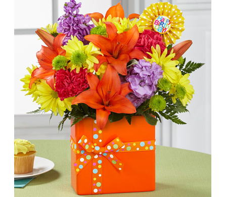 The FTD® Set to Celebrate™ Birthday Bouquet in Salisbury MD, Kitty's Flowers