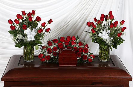 3 Piece Cremation Package Roses in Southampton PA, Domenic Graziano Flowers