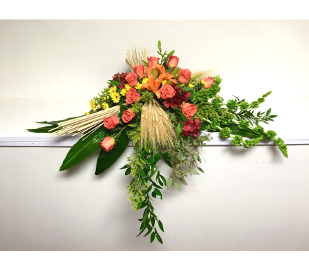 Autumn Remembrance Casket Spray in Wyoming MI, Wyoming Stuyvesant Floral