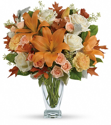 Teleflora's Seasonal Sophistication Bouquet in St. Petersburg FL, Andrew's On 4th Street Inc