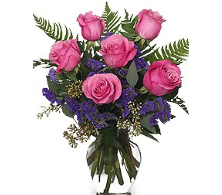 Pink Rose Arrangement in Needham MA, Needham Florist