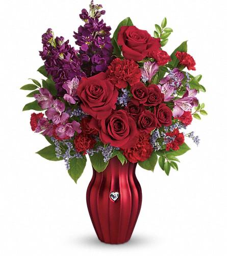 Teleflora's Shining Heart Bouquet in Kelowna BC, Enterprise Flower Studio