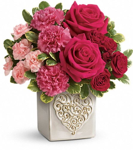 Teleflora's Swirling Heart Bouquet in Metairie LA, Villere's Florist