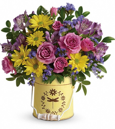Teleflora's Blooming Pail Bouquet in Tuckahoe NJ, Enchanting Florist & Gift Shop