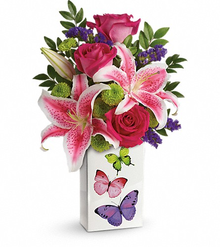 Teleflora's Brilliant Butterflies Bouquet in Oklahoma City OK, Array of Flowers & Gifts