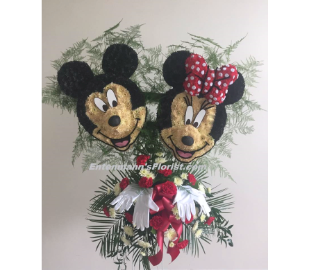 Mickey and Minnie in Jersey City NJ, Entenmann's Florist