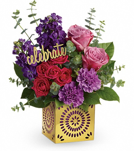 Teleflora's Thrilled For You Bouquet in Muskegon MI, Barry's Flower Shop