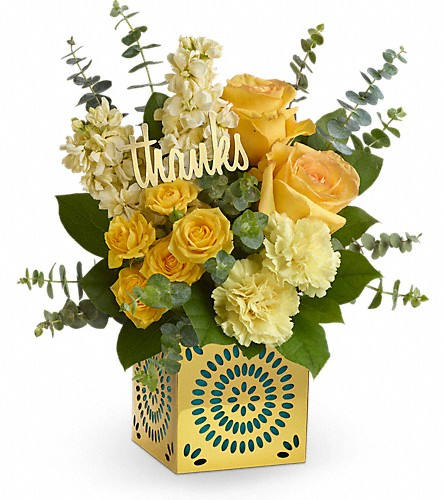 Teleflora's Shimmer Of Thanks Bouquet in San Bruno CA, San Bruno Flower Fashions