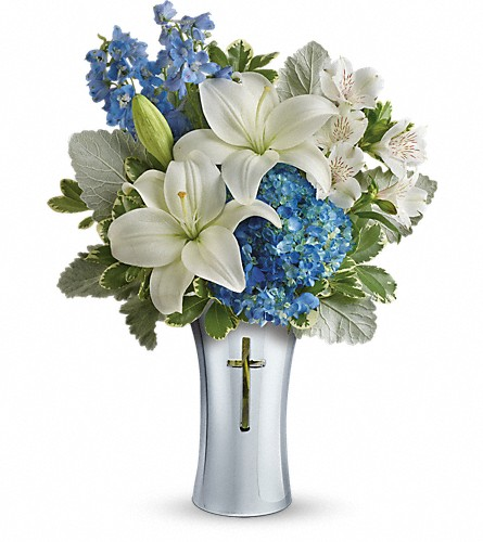 Teleflora's Skies Of Remembrance Bouquet in Festus MO, Judy's Flower Basket