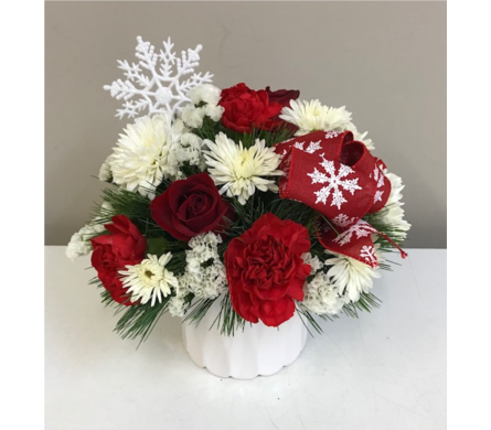 Dancing Snowflakes in New Glasgow NS, McKean's Flowers Ltd.