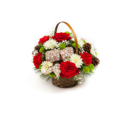 Christmas Traditions Basket in New Glasgow NS, McKean's Flowers Ltd.
