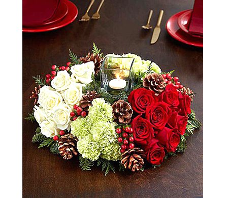 Very Merry Modern Centerpiece dans Watertown CT, Agnew Florist