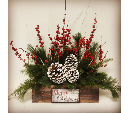 Vintage Merry Christmas Arrangement - All-Around in Wyoming MI, Wyoming Stuyvesant Floral
