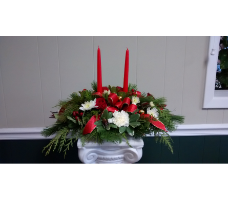 Holiday Centerpiece 1 in Athens GA, Flower & Gift Basket