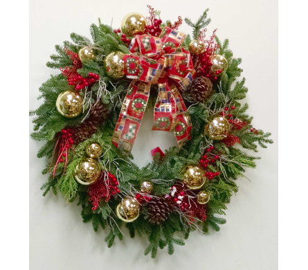 Premium Holiday Wreath in Redmond WA, Bear Creek Florist