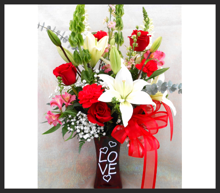 Love Squared Bouquet in Tyler TX, The Flower Box
