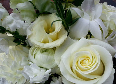 Seasonal White Arrangement in Needham MA, Needham Florist