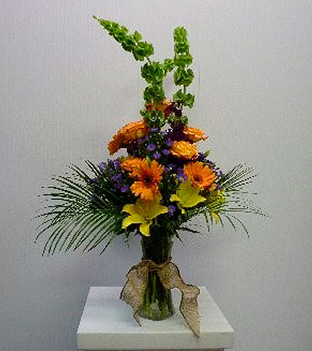Gathering Vase in Yellow, Orange, Purple in Albertville AL, The Flower Market