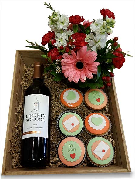 Flowers, Wine  & Cupcakes in Fort Worth TX, TCU Florist