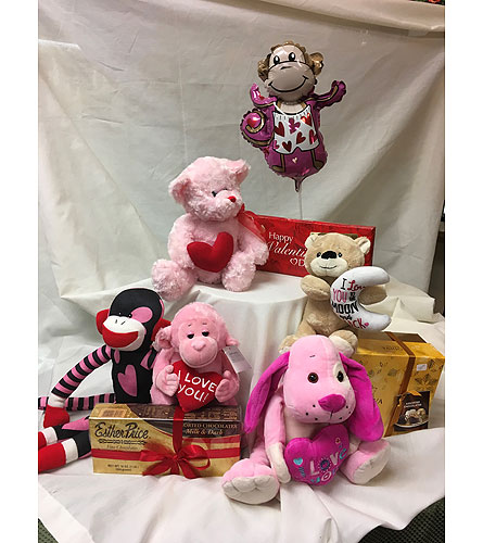 Valentine Plush and Chocolates in Fairfield OH, Novack Schafer Florist