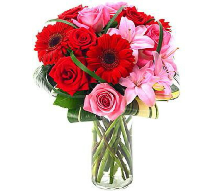 VF139  Enchanting Romance Bouquet in Oklahoma City OK, Array of Flowers & Gifts