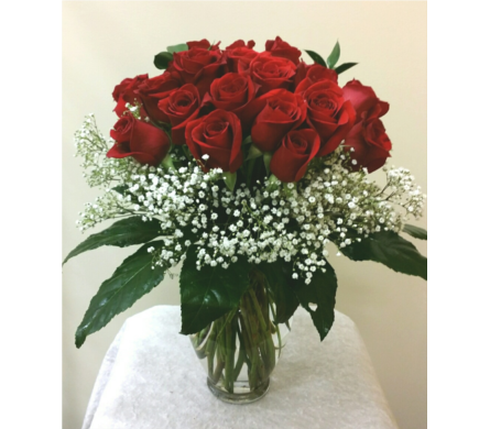 24 Short Red Roses in Naples FL, Gene's 5th Ave Florist