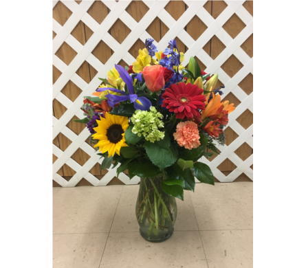 Brightly Colored Vase in Purcellville VA, Purcellville Florist