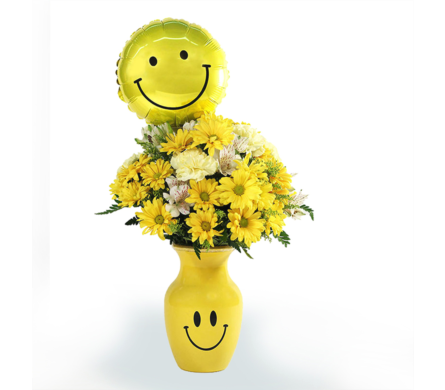 Smiley Face Bouquet in Southfield MI, Thrifty Florist