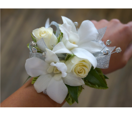 Sweet Orchid Corsage in Muskegon MI, Wasserman's Flower Shop