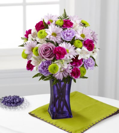 The Purple Pop Bouquet in Sapulpa OK, Neal & Jean's Flowers, Inc.